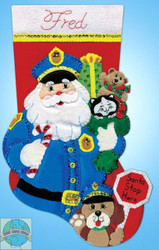 Design Works - Policeman Santa Stocking
