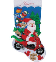 Design Works - Scooter Santa Stocking