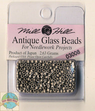 Mill Hill Antique Glass Beads 2.63g Pewter