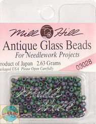 Mill Hill Antique Glass Beads 2.63g  Juniper Green