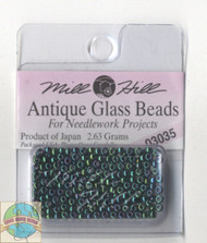 Mill Hill Antique Glass Beads 2.63g Royal Green