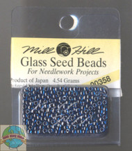 Mill Hill Glass Seed Beads 4.54g Cobalt Blue