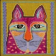 Mill Hill / Laurel Burch - Wild Pink Cat (LINEN)