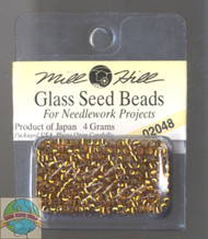 Mill Hill Glass Seed Beads 4g Golden Olive