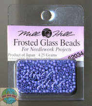 Mill Hill Frosted Glass Seed Beads 4.25g Blue Violet