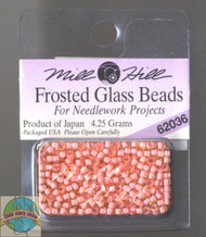 Mill Hill Frosted Glass Seed Bead 4.25g Pink Coral