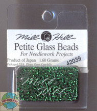 Mill Hill Petite Glass Bead 1.60g Brilliant Green
