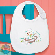 Dimensions - Fishing Bear Bib