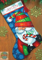 Dimensions - Sweet Santa Stocking