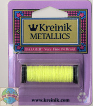 Kreinik Metallics - Very Fine #4 Lemon-Lime 054F