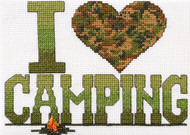 Plaid / Bucilla - I Love Camping