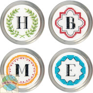 Dimensions - Monogram Jar Toppers (4)