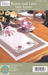 Design Works - Roses and Lace Tablerunner