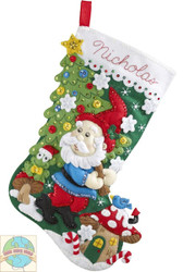 Plaid / Bucilla - Gnome Stocking