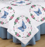 Design Works - Butterfly and Rose Quilt Blocks (6)