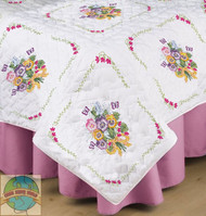 Design Works - Pansies Quilt Blocks (6)