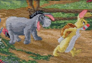 Kinkade / Disney - Eeyore and Rabbit Vignette