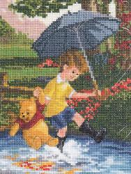 Kinkade / Disney - Christopher & Pooh  Vignette