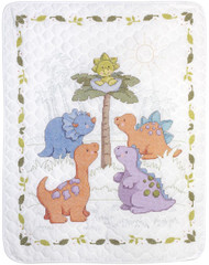 Plaid / Bucilla - Cute-A-Saurus Quilt