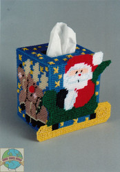 Design Works - Santa Sleigh Tissue Box Cover SALE!