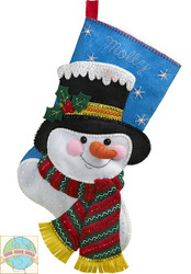 Plaid / Bucilla - Jack Frost Snowman Stocking