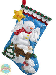 Plaid / Bucilla - Snow Angel Stocking