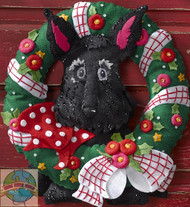 Plaid / Bucilla - Mary Engelbreit Scottie Wreath