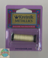 Kreinik Metallics Very Fine #4 Pale Yellow 191