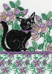 Design Works - Lilac Floral Cat