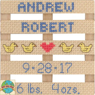 Janlynn - Birth Announcement Stitch Pallet