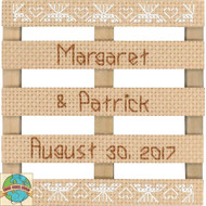 Janlynn - Lace Wedding Announcement Stitch Pallet