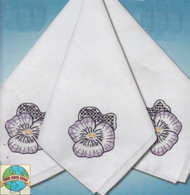 Design Works - Pansies 4pc Napkin Set