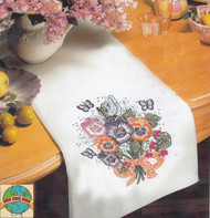 Design Works - Pansies Tablerunner