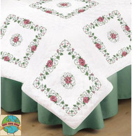 Design Works - Rose Vine Quilt Blocks (6)