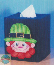 Design Works - Leprechaun Tissue Box Cover