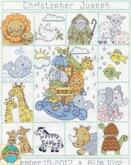 Design Works - Noah's Ark Baby Sampler