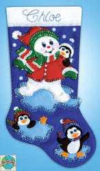 Design Works - Snowman & Penguins Stocking