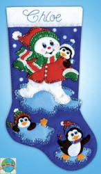 Design Works - Snowman & Penguins Stocking