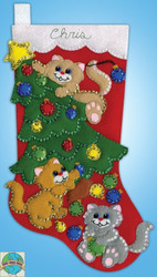 Design Works - Decorating Kittens Stocking
