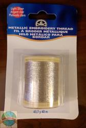DMC - 43.7 Yard Spool of  Light Silver Metallic Embroidery Thread
