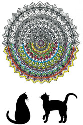 "Design Works - Zenbroidery Cat Mandala 10"" x 16"""