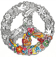 "Design Works - Zenbroidery Peace 10"" x 10"""