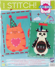 Vervaco Kits 4 Kids - Cat & Panda Embroidery Cards