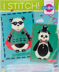 Vervaco Kits 4 Kids - Circus Pandas Embroidery Cards