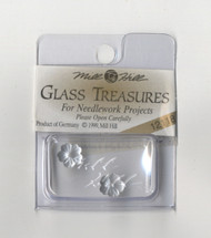 Mill Hill Glass Treasures - Petite Flower Matte Silver