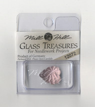 Mill Hill Glass Treasures - Frosted Starburst Heart Matte Rose