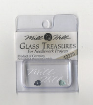 Mill Hill Glass Treasures - Petite Leaves Matte Tourmaline