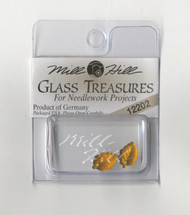Mill Hill Glass Treasures - Medium Leaf Matte Autumn Topaz