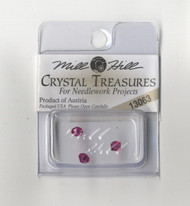 Mill Hill Crystal Treasures - Rondele Champagne Fuschia