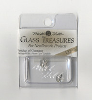 Mill Hill Glass Treasures - Round Cut Lined Bead Crystal/Silver
